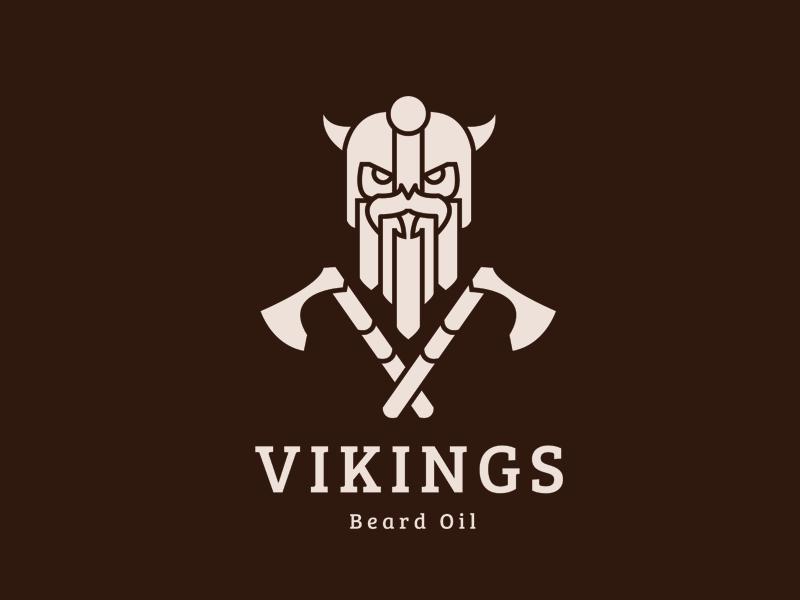 Vikings Beard Oil icon weapon graphic design design logo brand oil beard axe sword viking beard oil