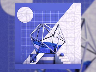 Violet - Compositional Render cinema4d 4d maxon 3d experiment art graphic design illustration illustrator design