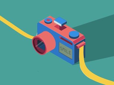 WIP- Camera Isometric Illustration