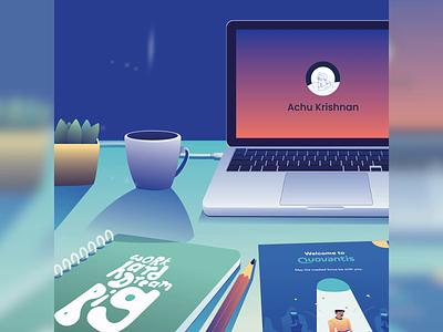 Onboarding Experience Animation quovantis adobe 2d illustrator after effect gradient art motion graphics designer illustration color design animation