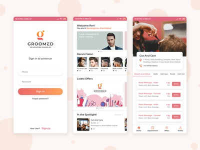 Appointment Booking App for Salon