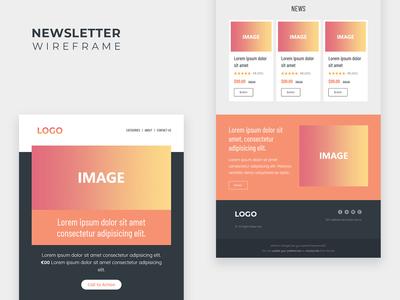 Newsletter Wireframe Design