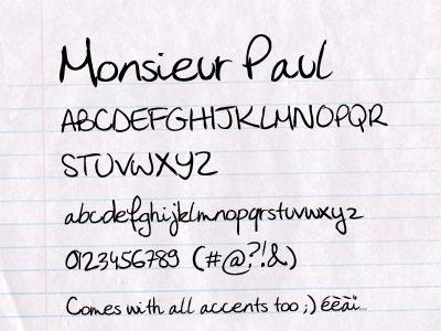 Monsieur Paul free font