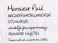 Monsieur Paul free font