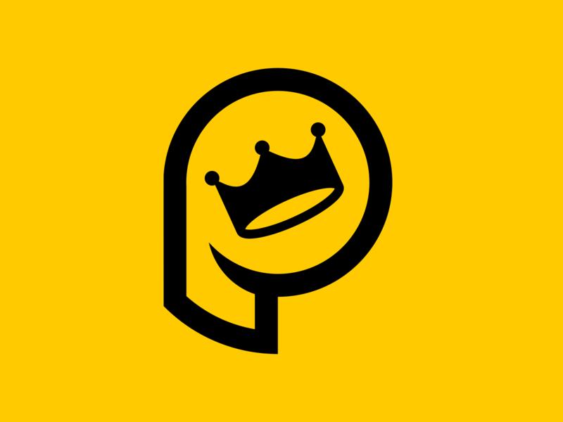 P + Crown twitter streamer youtuber youtube logo youtube twitch logo twitch esports logo esports branding brand gaming logo graphic design logos design clean logo