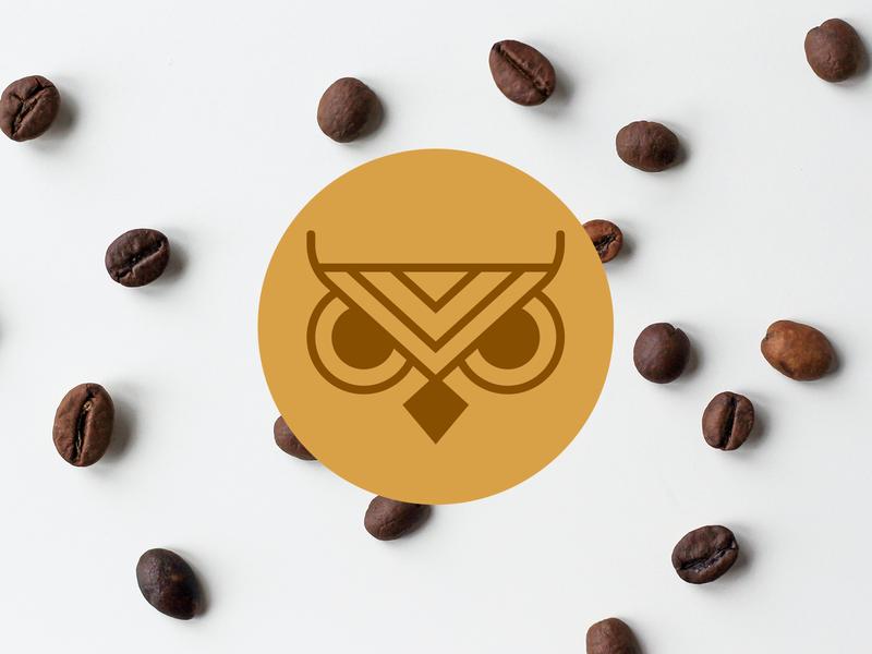 Knight Owl Coffee coffee cup coffee shop coffee white creative illustration branding brand graphic design logos clean design logo