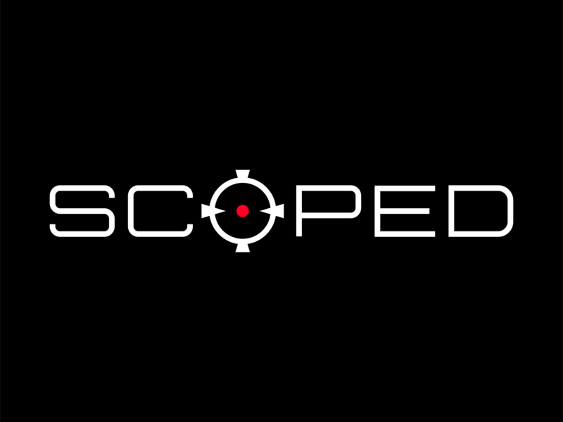 Scoped type. fortnite logo gaming esports brand graphic design logos clean design logo keyboard mouse xbox ps4 ps5 fortnite tfue scoped