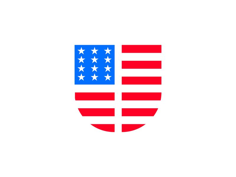 J + USA Flag logo american united states flag usa american flag america branding brand graphic design logos clean design logo