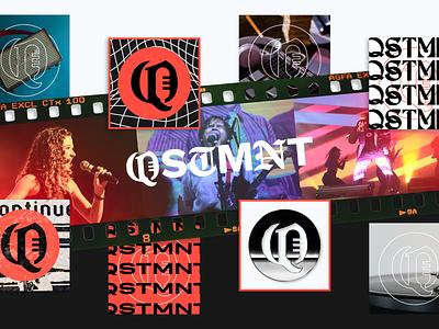 QSTMNT Project - LINK BELOW! layout lofi pop rock hip hop rap song music corporate ad editorial branding graphic design logos clean design logo