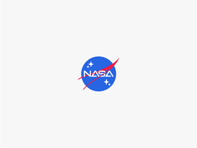 NASA 2077 white creative brand branding spaceman logos clean design logo spaceship