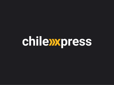 Chilexpress argentina chile delivery mailing mail branding clean logo