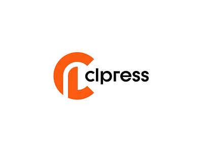 CLpress clean logos design graphic design brand logo branding tv news newspaper journalism journalist press