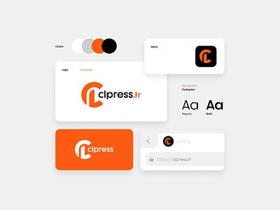 CLpress icarus illustration brand branding graphic design logos clean design logo journalist france news press journalism