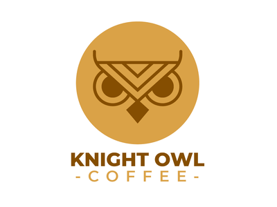 Knight Owl Coffee color variant. streamer lettering typography selling twitch logo design professional gaming logo gaming original esports logo esports white branding brand graphic design logos design clean logo