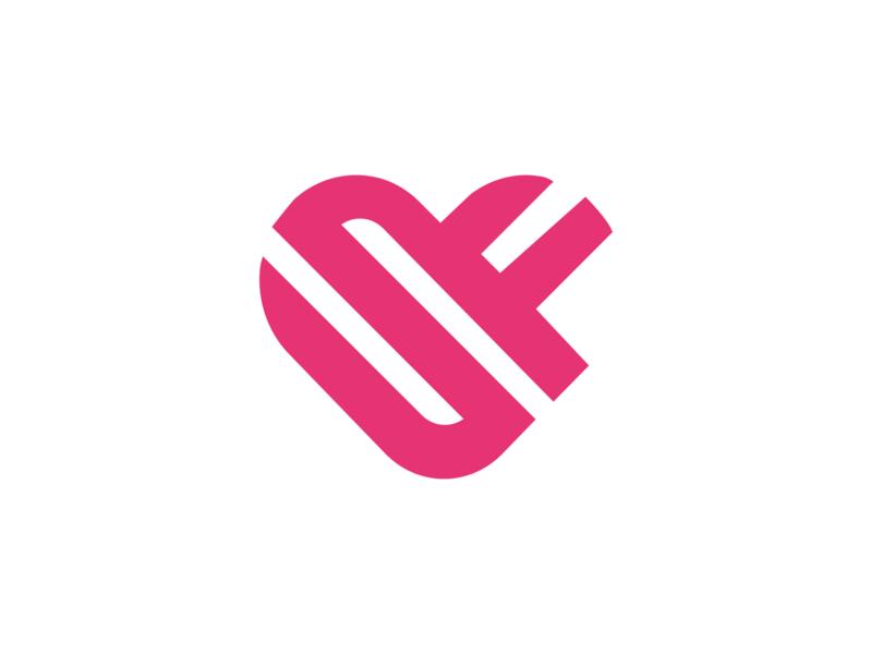 S + F + Heart youtuber streamer youtube stream 100t optic faze ninja mixer twitch gaming logo gaming brand graphic design logos design clean esports logo esports logo