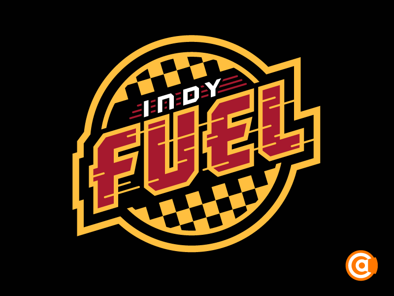 echl indy fuel primary logo rebrand by alex clemens
