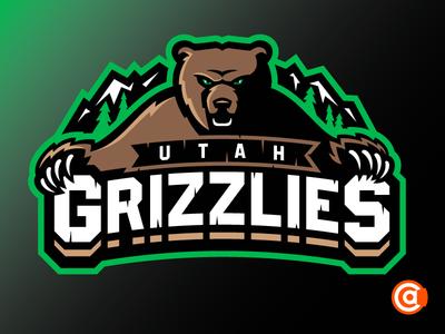 ECHL | Utah Grizzlies Primary Logo Rebrand