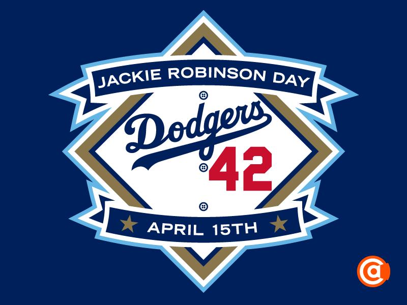 MLB   Jackie Robinson Day Logo jackie robinson day logo jackie robinson day mlb
