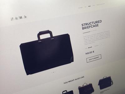 Minimal shop minimalistic minimal ecommerce shop online web ui ux fashion montserrat bags slovenia