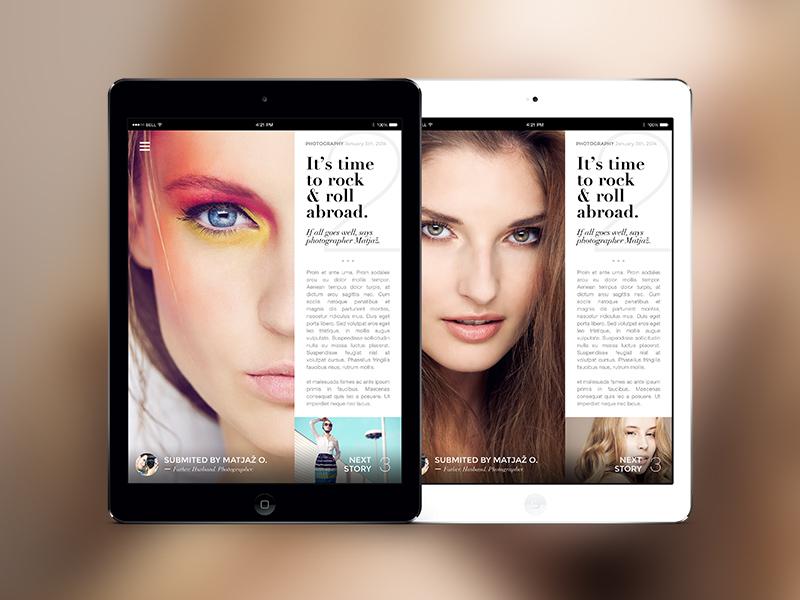 Ipad Magazine slovenia ipad magazine newspaper fashion beauty reading minimalistic