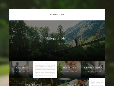 Moments by M&M website ui ux minimalistic photography typography flat weddings