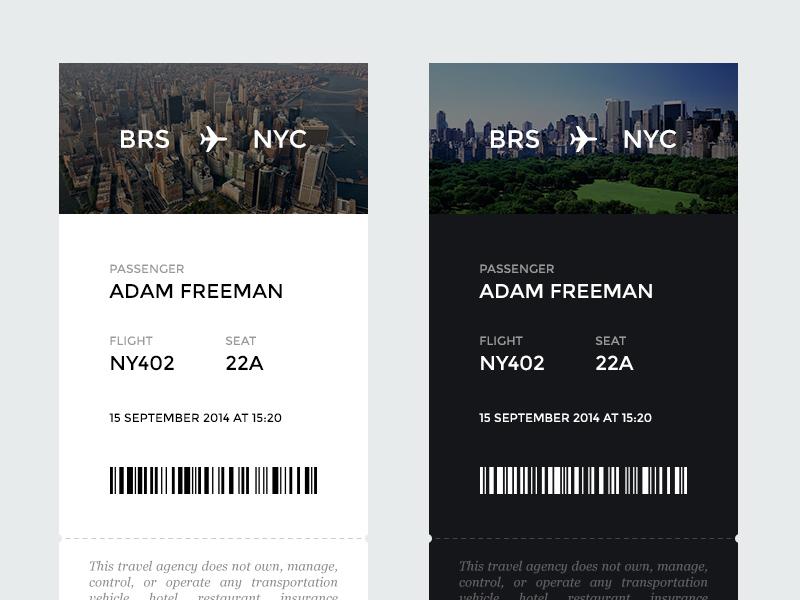 Airplane ticket airplane ticket boarding pass travel flight minimalistic flat