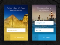 Freebie: Subscribe & Login