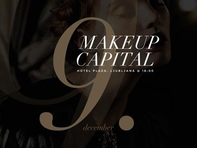Makeup Event makeup capital event typography print marketing online