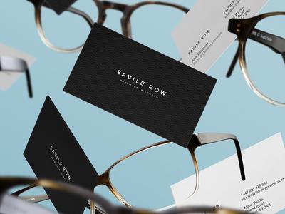 Savile Row Cards savile row handmade london identity gravity business cards eyewear