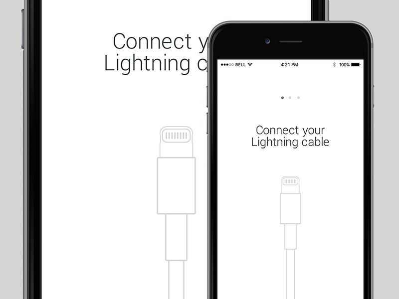 Lightning Cable lightning cable ui white minimalistic iphone ios instructions