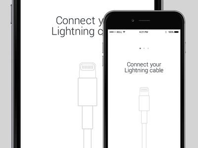 Lightning Cable lightning cable ui white minimalistic iphone ios instructions