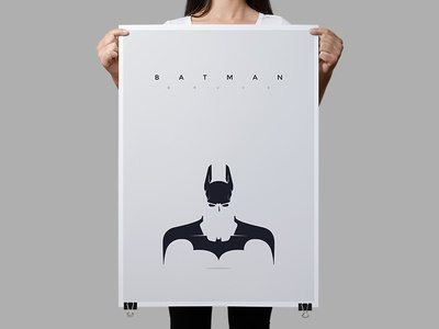 Batman batman poster print typography design minimalistic dc superhero