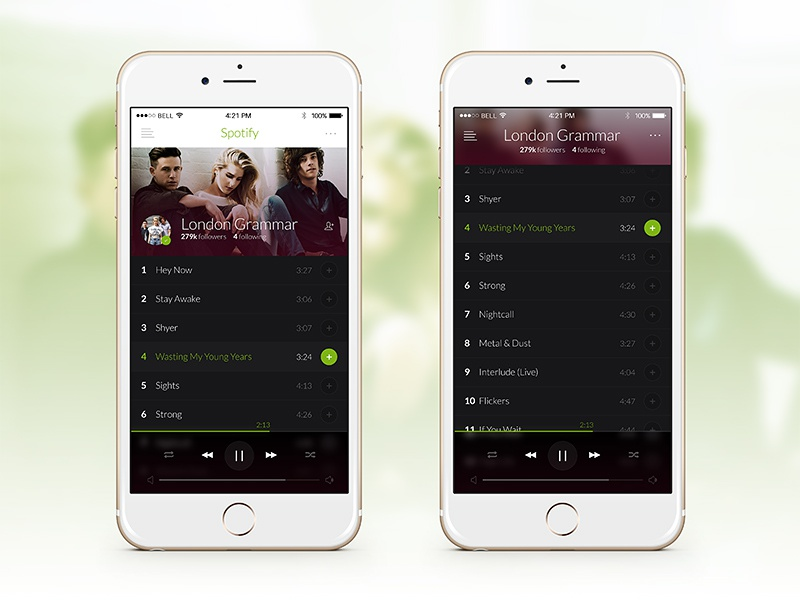 Spotify mobile spotify mobile ios iphone music player playlist song