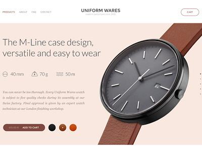 Uniform Wares macbook 2015 mockup website ui ux minimalistic photography typography watches beoplay