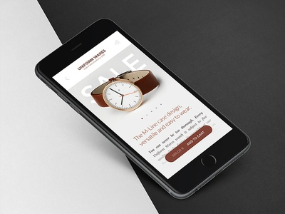 Uniform Wares Mobile mockup 2015 iphone beoplay watches typography photography minimalistic ux ui mobile ios