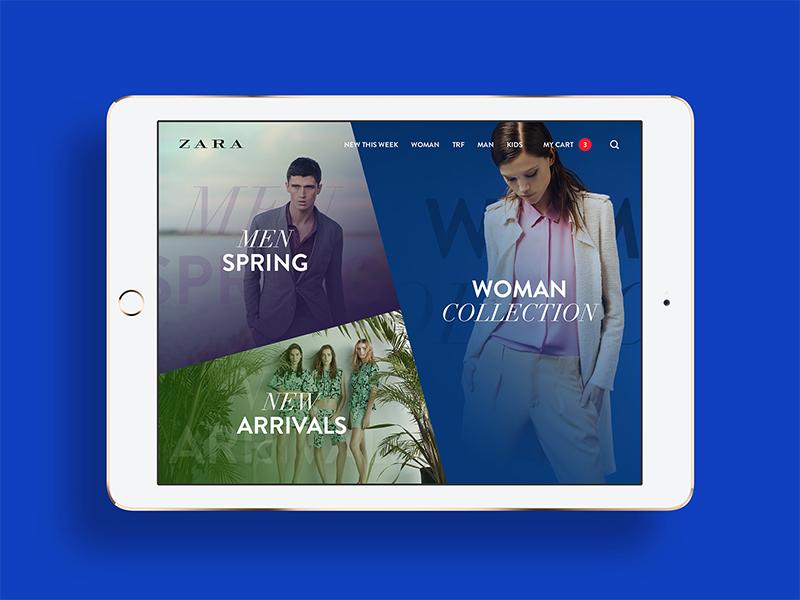 ZARA #1 zara ios mobile tablet ecommerce store flat minimalistic ux ui ljubljana slovenia