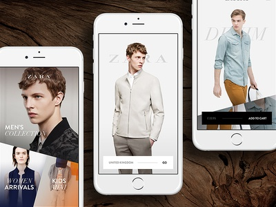 ZARA #2 zara ios mobile iphone ecommerce store flat minimalistic ux ui ljubljana slovenia
