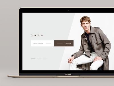 ZARA #3 zara desktop website ecommerce store flat minimalistic ux ui ljubljana slovenia