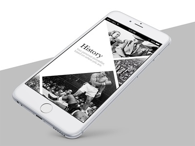 History ios iphone mobile history grid welcome minimalistic flat