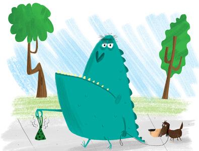 monster childrens book children cartoon animals humor photoshop illustration
