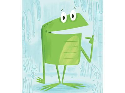 Frog kidlitbook childrensbook illustration illustrator photoshop frog