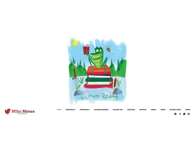 website website bee books reading frog