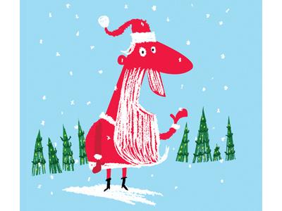 Red Santa santa claus illustration illustrator photoshop santa