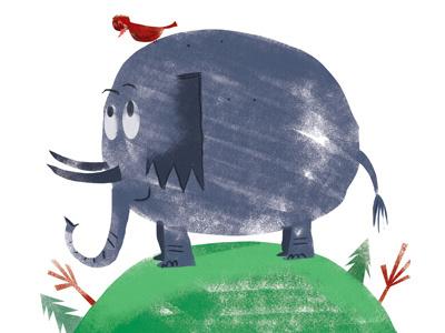 Friends illustration illustrator childrensbook kidlitart photoshop bird elephant friends
