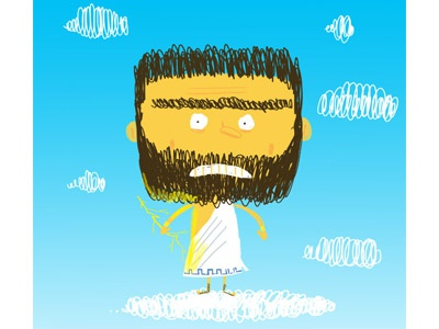 "Zeus ""The Missing Years"" cintiq kidlitart illustrator illustration zeus photoshop"
