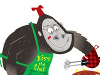 Gorilla Cooking