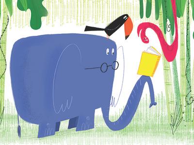 Read children childrens book humorous illustration cartoon animals humor photoshop illustration