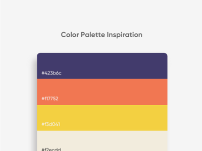 Color Palette Inspiration app trendy news style items graphic art trend scheme palette ux brand branding color ui modern illustration flat new design