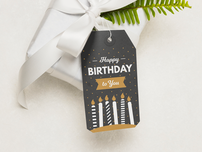 Birthday gift card card gift card birthday cake gift party birthday illustration color logo modern vector adobe new flat illustrator design