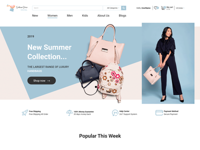 Online Bags Store | E-commerce Website ecommerce gucci woman ui  ux ux ui web women style shop online store brand logo design new flat website fashion